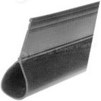 Black Rubber Seal for Steel Bottom Bar 75' roll